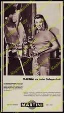 orig. Reklame Martini Schauspielerin Marianne Hold München Wohnung Malerei 1959