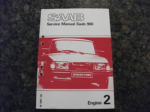 1981-1982 SAAB 900 Engine Service Manual
