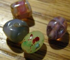 ANTIQUE TRADE BEADS FROM ESTATE SALE, SOUTH PACIFIC ?  4 ALL DIFFERENT
