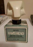Vintage Avon RAM'S HEAD Cologne Decanter Bottle Empty with Original Box