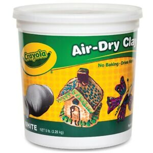 Crayola Air-Dry Clay 5 lb. White Package