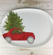 Christmas Serving Tray Farmhouse Plastic Kitchen Decor Cookie Platter
