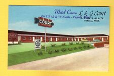"Tupelo,MS Mississippi, Motel Carro/ L & G Court ""overprint"" new owner phone 2736"