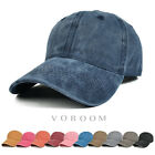 100% Cotton Plain Washed Cap Polo Style Adjustable Baseball Cap Blank Solid Hat