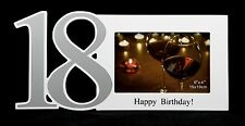 "18th Happy Birthday White Frame 6""x 4"" 15x10Cm"