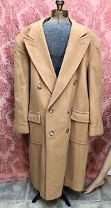 VTG  Ralph Lauren *CHAPS Cashmere or Wool Mens TRENCH TOP COAT Sz 42-46  $24 NR