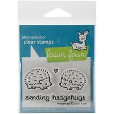 LAWN FAWN RUBBER STAMPS CLEAR SENDING HEDGEHUGS NEW clear STAMP