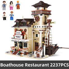 MOC StreetView Boat House Restautant Compatible 2237pcs With Building Block Set