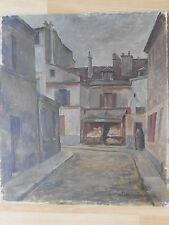 Willi HENSELMANN Rue Galleron PARIS  20. Arrondissement Ölgemälde von 1926