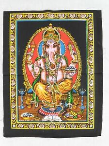 Indian Hindu God Lord Ganesh Sequinned Wall Hanging 43 x 56 cm SECONDS