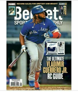 Used August 2021 Beckett Sports Card Monthly Price Guide Magazine V. Guerrero Jr