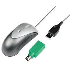 Hama optische Mini-Maus f. Notebook, PC USB + PS/2 Adapter + Ledertasche 49151