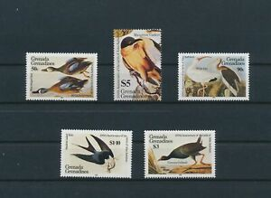 LO56899 Grenada 1985 Audubon animals fauna birds fine lot MNH