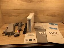 Nintendo Wii Console White With All The Leads Tested & Working (No Controllers)