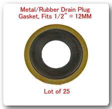 25 PCS DP7408  Metal & Rubber GM Oil Drain Washer Gasket 12mm (Black)GM 14090908