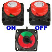 12V 24V Marine 2 Position Power Battery Isolator Cut Off Kill Switch Knob 300A
