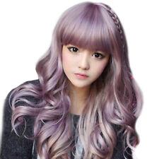 Japanese Harajuku Zippe mix Purple Gradient 75cm curly Lolita Cosplay Party Wig