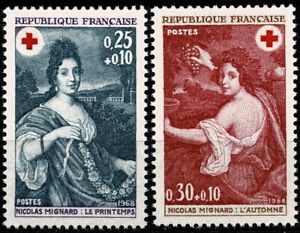 FRANCE 1968  Croix-rouge n° 1580 - 1581  Neufs ★★ luxe / MNH
