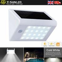 2X Solar Motion Sensor Security LED Wall Light Spotlight Outdoor Garden UK White