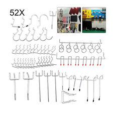 52PCS Metal Pegboard Hooks for Garage Display Organization Storage Hanging Tool
