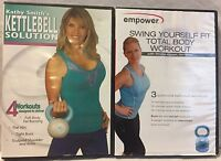 2 Kettlebell workout exercise fitness DVD lot empower Gin Miller Kathy Smith