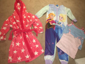 Lounge Bed P.j Bundle Disney Frozen All In 1 Dressing Gown Vest Age 4-5 Years