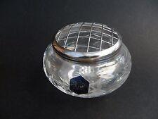 """Stuart Crystal Rose Bowl Fushia Design 4.25"""" diameter."""