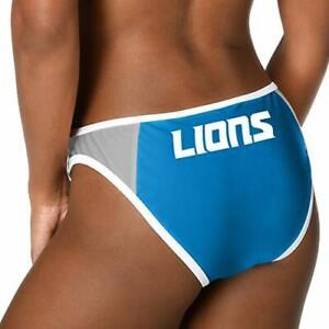 Forever Collectibles Women's Detroit Lions Team Logo Swim Suit Bikini Bottom
