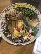 Set: 6 Winnie the Pooh & Friends 3D Wall Plates Bradford Exchange Lot Disney