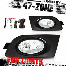 For 2001-2003 Honda Civic 2 4 Door Chrome Housing Clear Lens Fog Lights