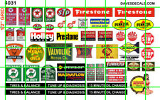 4031 DAVE'S DECALS ASSORTED SMALL GAS OIL & LUBE SHOP SIGNAGE FOR QUONSET HUT KT