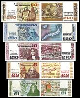 Irlande -  2x  1, 5, 10, 20, 50 Pounds - Edition 1976 - 1993 - Reproduction - 02
