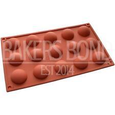 15 trous semi sphere chocolat moule en silicone rond gâteau pop anniversaire plaque de cuisson