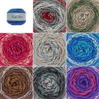 King Cole Twirly Tweed Chunky Cake Knitting Yarn Wool Crochet 150g Ball