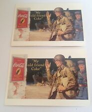 "Coca-Cola Lot of 2, 1994 Collectible Postcards ""My Old Friend Coke"" 1944"