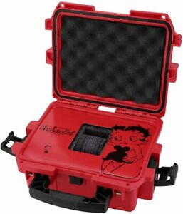 New Invicta 3 Slot Impact Hard Red Betty Boop Dive Storage Collector Case