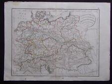 § carte Confédération Germanique Prusse Autriche Pologne Félix Delamarche 1828