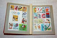 Old Album Postage Stamps Used Vintage, Sport Flora Fauna, Different,  Klyasser
