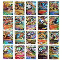 TCG 100 Card Lot Rare Common Unc Full Art GX OR EX Guaranteed Holo Rare Pokemon