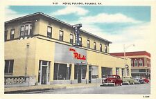 C45/ Pulaski Virginia Va Postcard Linen Hotel Pulaski Automobiles
