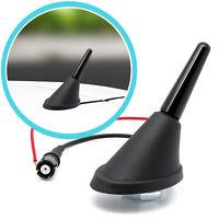 Auto KFZ 3cm Kurz Stab Dach Antenne + Raku 2 Sockel mit Verstärker Universal SET