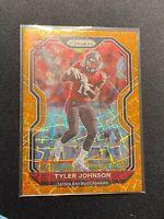 2020 Panini Prizm Football Tyler Johnson Orange Lazer Prizm Rookie Card RC #321