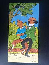 RARE carte Tintin gaufrée Lombard 1979 TBE