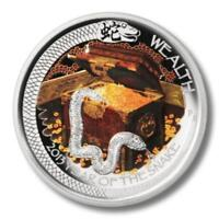 Tuvalu 2013 1$ Dollar Year of Snake Wealth 1 Oz Silver Proof Coin