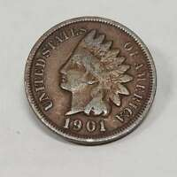 1901 Indian Head Penny One Cent U.S Coin Ungraded 01LSD