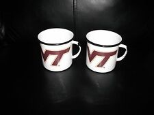 Va. Tech Hokies Speckled Enamelware Camping or Hiking Drinking Tins New