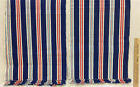 Table Runners Red White & Blue Stripe w/ Fringe Edge Set 2 USA American 4th July
