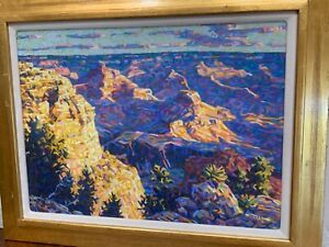 """Stephen Moss pastel painting """"Canyon Morning 1998"""" signed l.r. STUNNING 23""""x29"""""""