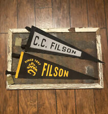 Filson Bear Paw And Hand Saw Pennant Smokey NWT Bag