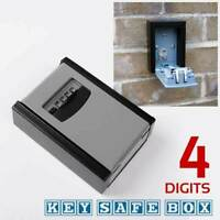 Outdoor 4 Digit Wall Mounted Weather Resistant Key Safe Box Lock Storage